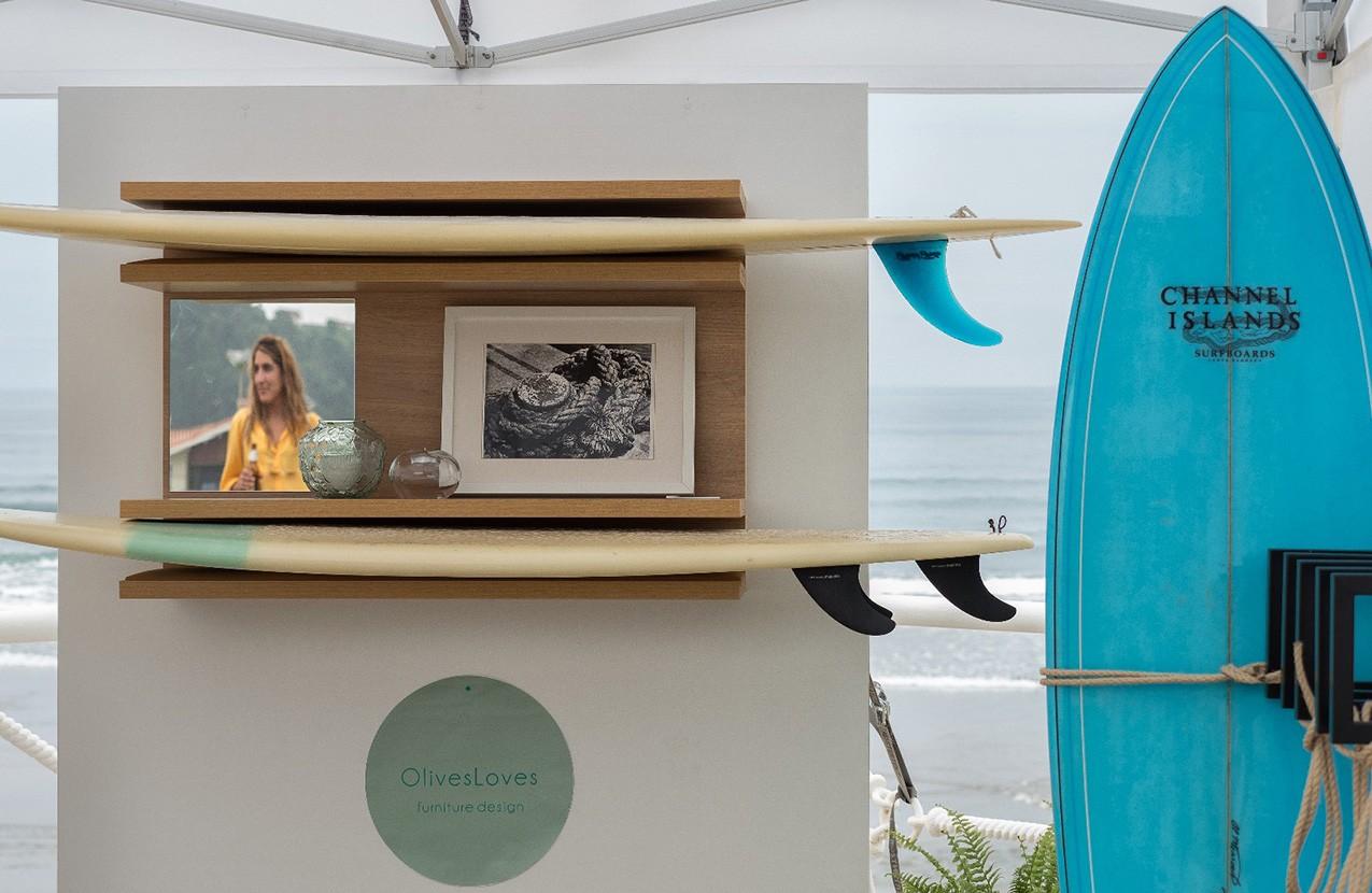 OlivesLoves diseño de mobiliario, surfeando en Salinas Longboard festival